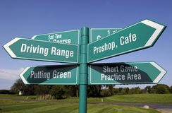 Golf sign Royalty Free Stock Photos