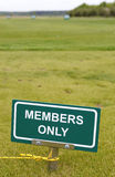 Golf sign Royalty Free Stock Image