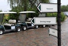 Golf sign stock photos