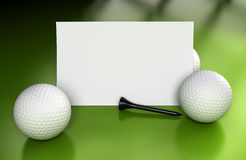 Golf Sign, Communication Over Green Royalty Free Stock Photography
