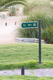 Golf Sign on the Golf Course Stock Image
