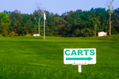 Golf signs on grass Stock Photography