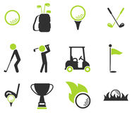 Golf simply icons Stock Photo
