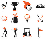 Golf simply icons Royalty Free Stock Photography