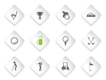 Golf simply icons Royalty Free Stock Image