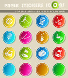 Golf simply icons Royalty Free Stock Images