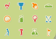 Golf simply icons. Golf simply symbol for web icons and user interface Stock Photos