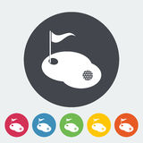 Golf single icon. Royalty Free Stock Images