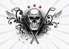 Golf Skull Emblem Royalty Free Stock Images
