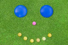 Golf and smile Stock Photos