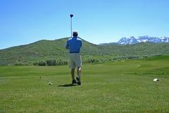Golf spielen Stockbild