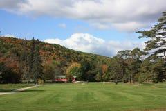 Golf spielen in Neu-England Stockfotografie
