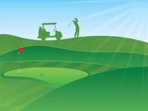 Golf spielende Abbildung Stockbilder