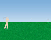 Golf spielende Illustration Lizenzfreie Stockbilder