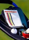 Golf spielendes Set Lizenzfreies Stockfoto