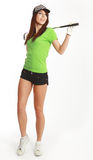 Golf-Spieler-Frau. lizenzfreies stockfoto