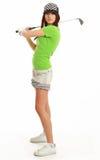 Golf-Spieler-Frau. lizenzfreie stockfotografie
