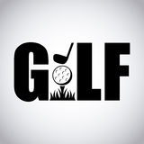 Golf sport design Stock Photo