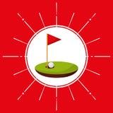Golf sport emblem icon. Vector illustration design Stock Photography