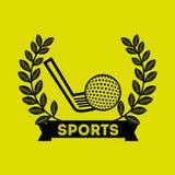 Golf sport emblem icon. Vector illustration design Stock Image