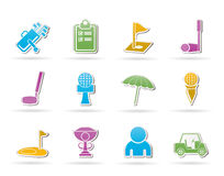 Golf and sport icons Stock Image