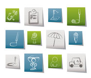 Golf and sport icons. Icon set Stock Photo