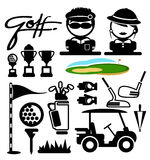 Golf sport  icons Royalty Free Stock Images