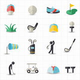 Golf sport icons Royalty Free Stock Photography