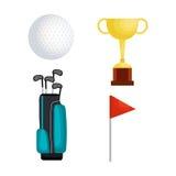 Golf sport set icons Royalty Free Stock Image