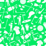 Golf sport simple icons seamless pattern eps10 Stock Photo