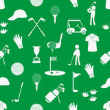 Golf sport simple white and green seamless pattern eps10 Stock Photography
