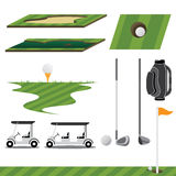 Golf-Sport-Vektor Stockbilder