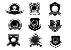 Golf sports emblems and symbols set Royalty Free Stock Images