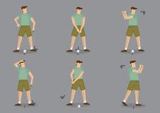 Golf Sports Vector Icon Set Stock Image
