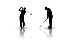 Golf sports Vector silhouette Royalty Free Stock Photography