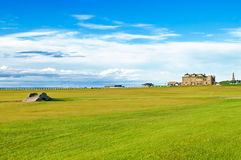Golf St Andrews old course links. Scotland. Stock Photos