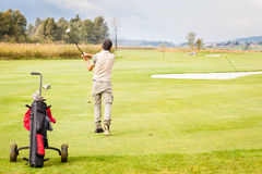 Golf stance Stock Image
