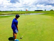 golf stawia Obrazy Royalty Free