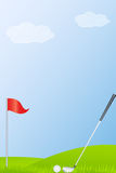 Golf Stick And Golf Ball Royalty Free Stock Photo