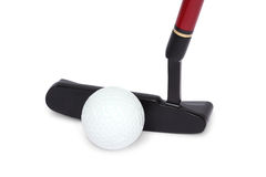 Golf stick and ball Royalty Free Stock Images
