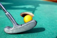 Golf stick and ball. Stock Images