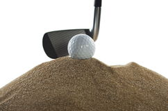 Golf stick and ball Royalty Free Stock Photos