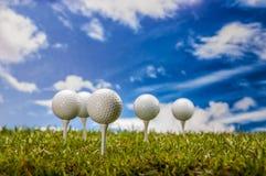 Golf stuff on golf field Stock Photography