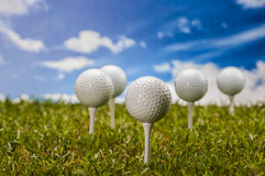 Golf stuff on golf field Stock Images