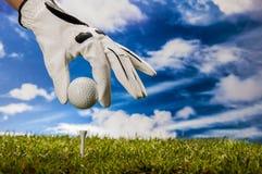 Golf stuff on golf field Royalty Free Stock Photo