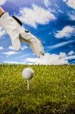 Golf stuff on golf field Stock Image