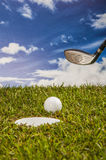 Golf stuff with sports equipment Royalty Free Stock Images