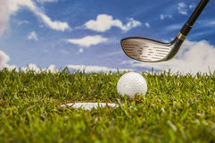 Golf stuff with sports equipment Royalty Free Stock Image