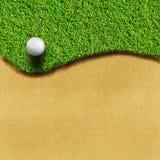 Golf sul corso dell'erba Fotografia Stock Libera da Diritti