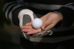 Golf sulle entrambe le mani Fotografie Stock Libere da Diritti